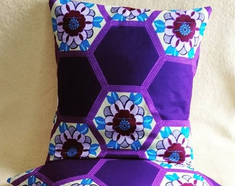 African Print Pillows Covers with bow