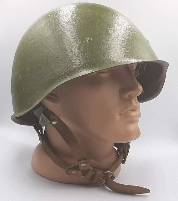 Soldier of USSR Red Army  unused NOS Soviet Soldier Metal Helmet Vintage USSR Soviet Army Soldier Military Helmet