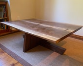 Live Edge Coffee Table - Handmade with Bowtie Joinery, Walnut