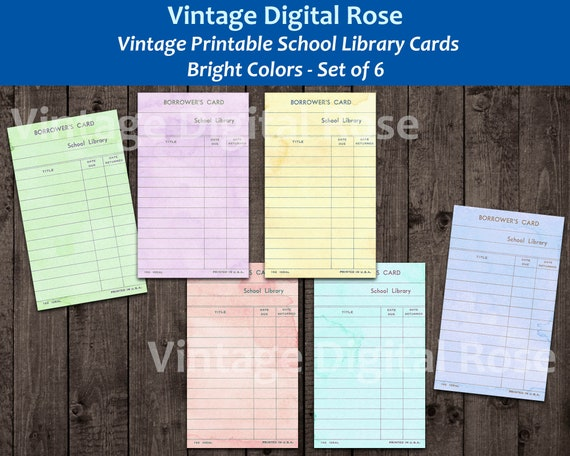 Coffee Dyed Beige Library Cards with Black Lines Printable Digital Collage Sheet JPG Format