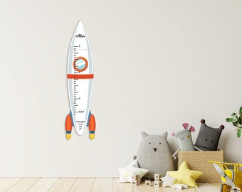 Wooden Growth Chart for Kids, Custom Growth Chart Rocket, Growth Ruler Gift, Kids Baby Gifts, Height Chart, Birthday Gift Decor, Wall Decor