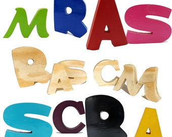 Wooden Standing Letters for Crafts or Decorations