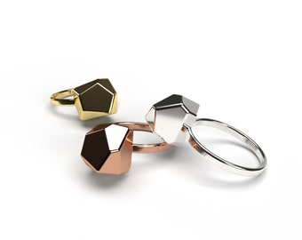 Geometric Ring - Multifaceted