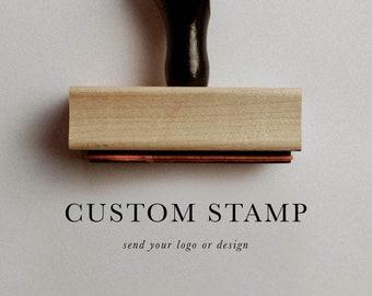 Rubber Logo Handstamp, Personal Logo Stamper, Business Logo Rubber Stamp, Custom Artwork Stamp, Rubber Stamp, Business Stamper
