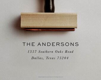 Modern Address Stamp, Custom Address Stamp, Simple Address Stamper, Housewarming Gift, Return Address Stamper, Minimal Envelope Stamper
