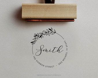 Address Stamp, Housewarming Gift, Personalized Stamp, Custom Address Stamp, Family Address Stamp, Return Address Stamp, Modern Address Stamp