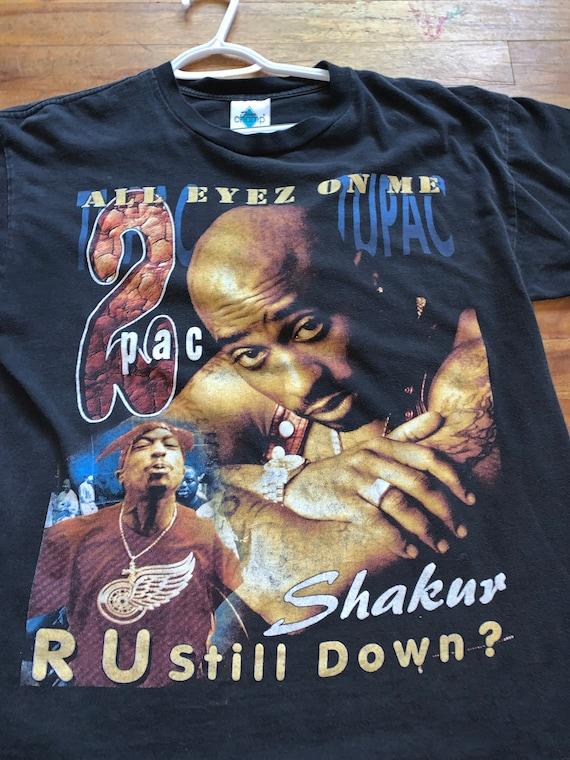 Vintage Bootleg Tupac Shakur 90s Rap T Size L