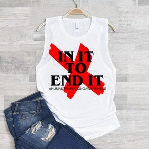 Red X Earrings Anti Human Trafficking Advocacy Statement Earrings Anti-Slavery End it Movement Stud Earrings #Enditmovement