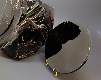"Black Obsidian Scrying Mirror 7"", magic mirror, 7"" diameter"