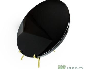 "Black Obsidian Scrying Mirror, 13cm (5.1"") diameter"