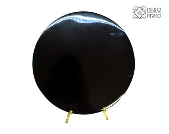 "Black Obsidian Scrying Mirror, 4"" diameter"