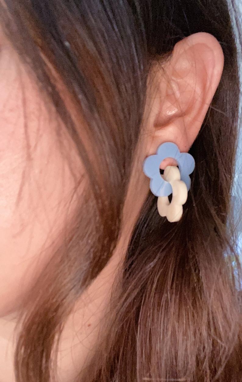 Flower Link Earrings