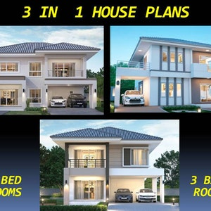Custom Modern House Home Floor Cabin Ranch Cottage Building plans 2 Bedroom /& 1 bath room with Garage and AUTO CAD File