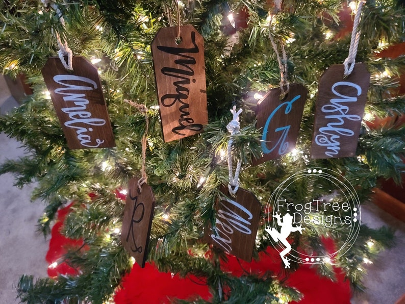 Custom Stocking Tags Gift Tags Wooden Personalized Tags Christmas Tags Stocking Charms Present Tags Stocking Tags Christmas