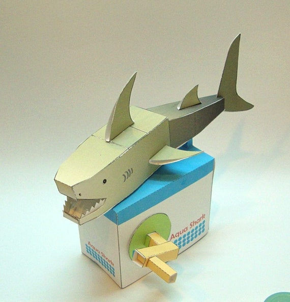 Kinetic Paper Model Moving Paper Automata Lucky Dog Digital Download PDF