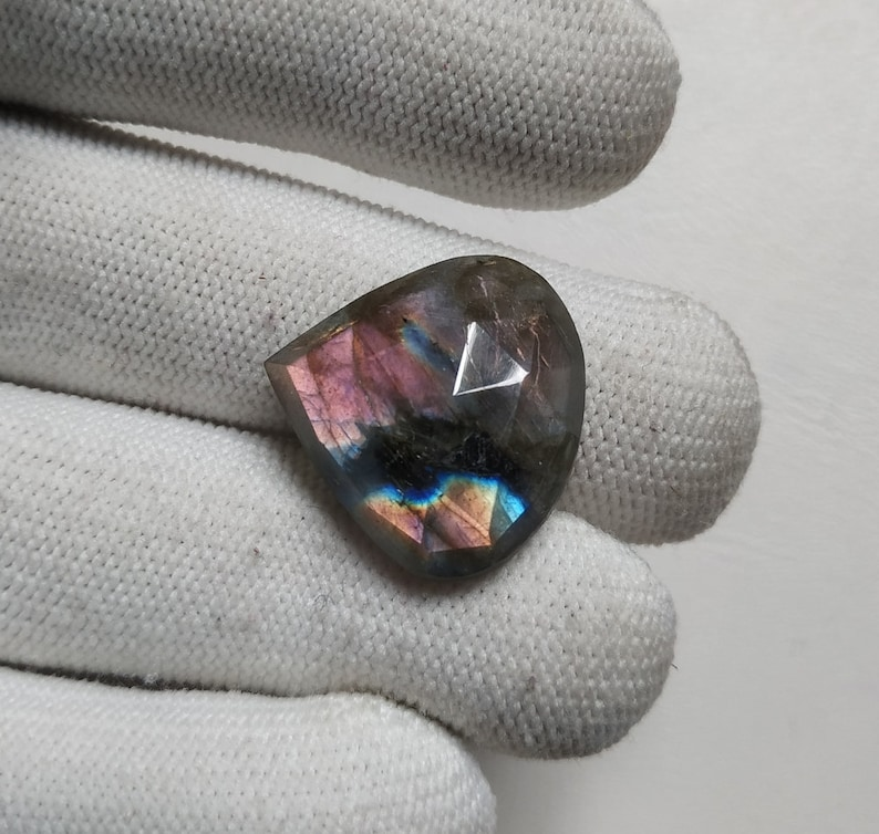 Antique Labradorite Blue Fire Labradorite Faceted Loose Gemstone 25.95  Carats  Heart  Shape  Best For Wire wrap Jewelry