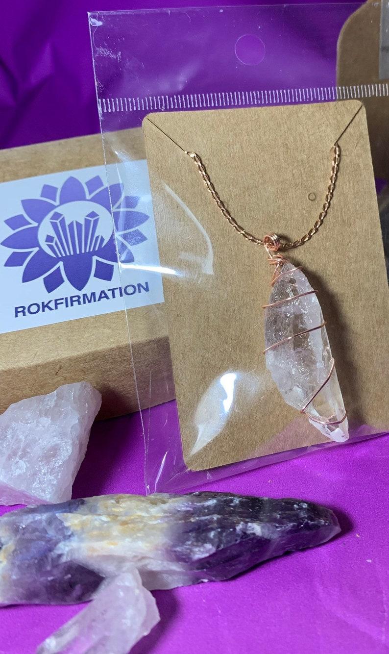 Rose Gold Clear Quartz Necklace
