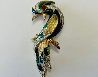 D'Orlan Bird of Paradise Brooch