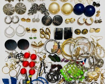Large Lot Of Perfectly Imperfect Earrings (75 Sets)