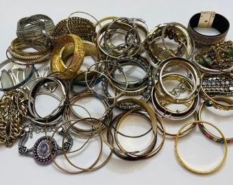 Box Of Vintage Bracelets/Bangles (68 PCS)