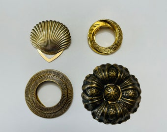 Lot Of Gold Tone Scarf/Sweater Clips