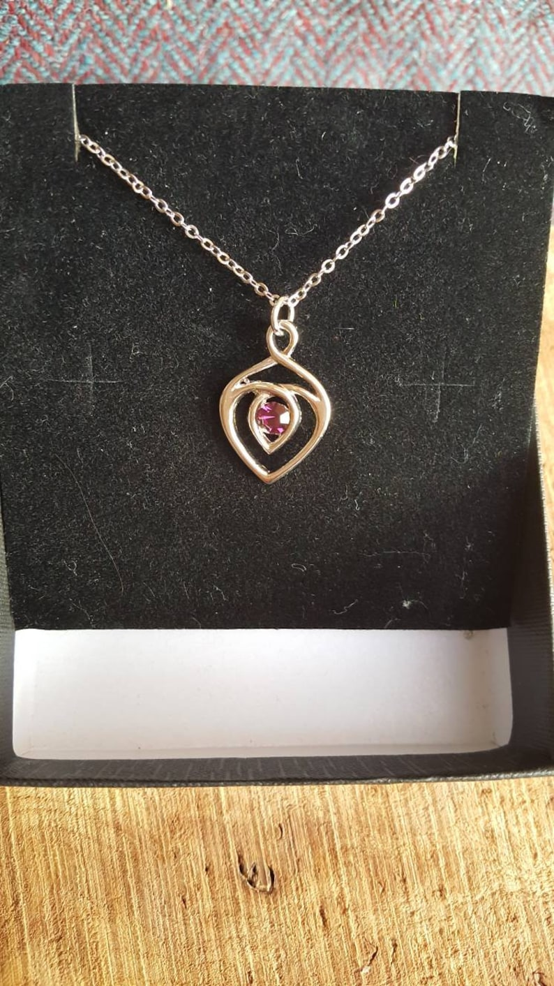 Celtic Heart Pendant and Necklace