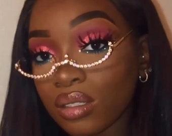 Diamond Sunglasses Etsy