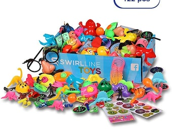 Party Favors For Birthday Party Goodie Bags or Pinata Fillers - Toys Bulk Assortment for Kids Boys Girls - Treasure Box Prizes for Classroom