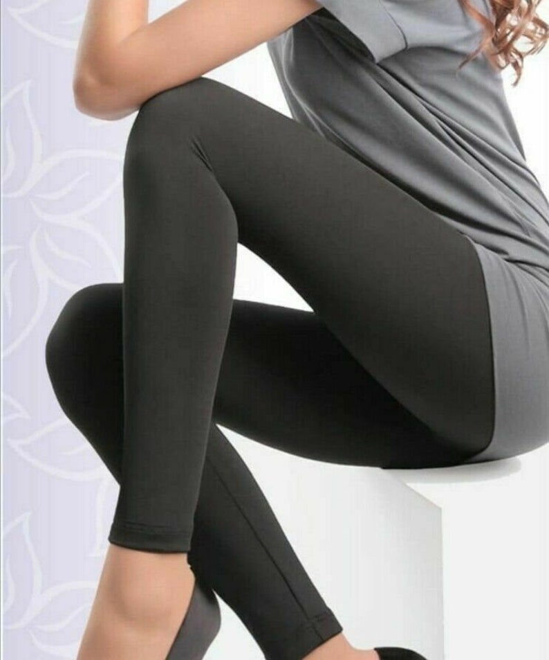 2 Pack Girls Black Organic Fair Trade Breathable Cotton 4 Way Stretch Leggings Personalised  Non Personalised