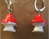 Mushroom earrings, mushroom charm earrings, mushroom jewelry, food jewelry, food charms, mushroom charms it makes a darn good gift