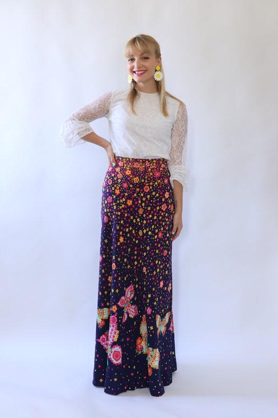 Fantastic Bold print 70's maxi skirt