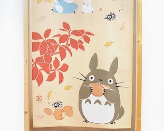 Noren Japanese door curtains My Neighbour Totoro pattern Orange chestnut, Japan Ghibli studio totoro window curtain tapestry