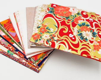 Lot block 100 sheets of Japanese Kyoto paper for folding origami