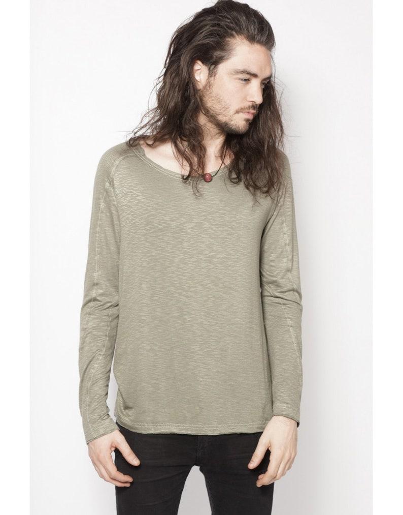 made in France ready-to-wear designer Japan street wear Krypto Kaki AOI Clothing long-sleeved sweater