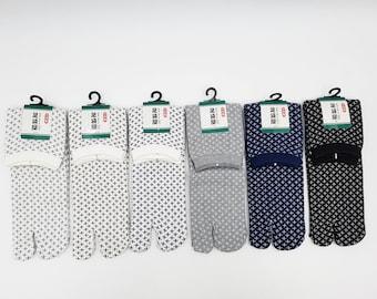 Japanese Tabi Cotton Socks and Sashiko Pattern Made in Japan Size Fr 40 - 45