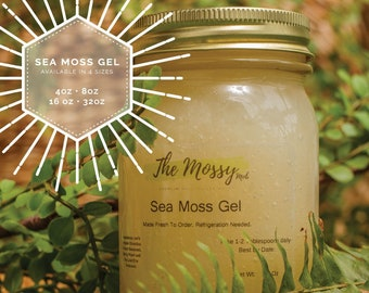 100% Organic Raw Irish Sea Moss Gel: Fresh Handmade To Order- All Sizes
