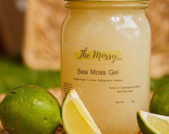 100% Organic Raw Irish Sea Moss Gel: Fresh Handmade To Order- 16 oz
