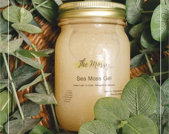 100% Organic Raw Irish Sea Moss Gel: Fresh Handmade To Order- 32 Oz