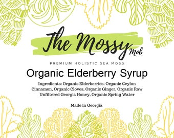 Organic Elderberry Syrup: Fresh-made