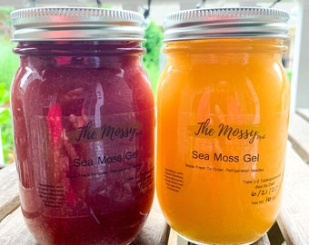 Infused Raw Irish Sea Moss Gel: Pick Your Flavor & Size! Fresh Handmade To Order