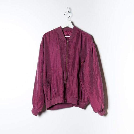 Silk Bomber Unisex in red