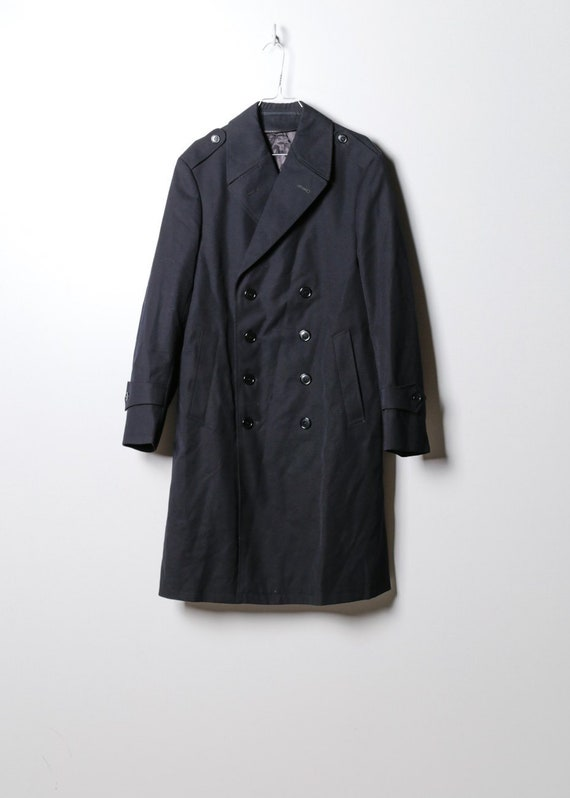 Vintage Women's Trench Coat in Black