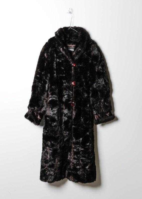 Vintage Women's Fake Fur Coat in Black