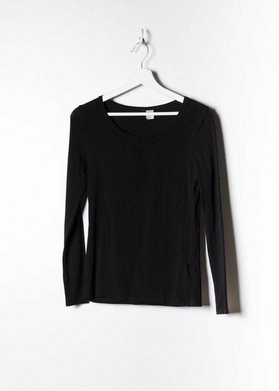 Vintage Women/'s Blouse in Black