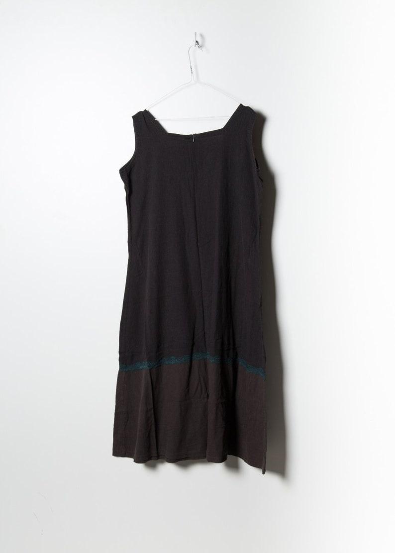 70s Women/'s Summer Dress in Black