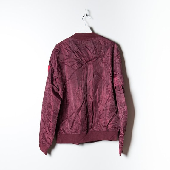 Silk Bomber Unisex in red - image 2