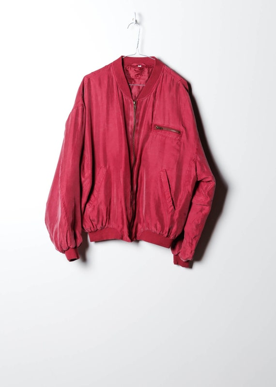 Silk jacket in red