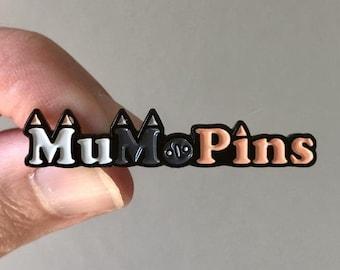 Logo Pin Soft Enamel 1.5 Inch Black Dye