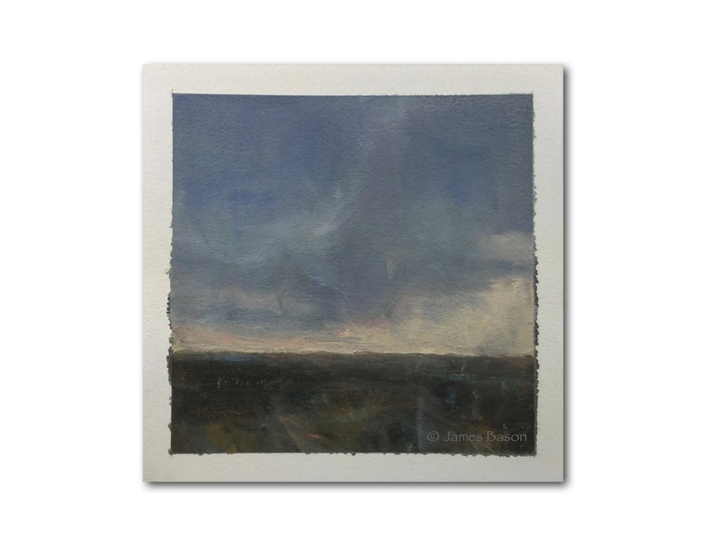 Study no Original Abstract Landscape Tonalist Oil Painting on Arches Oil Paper 6 x 6 Unframed 19