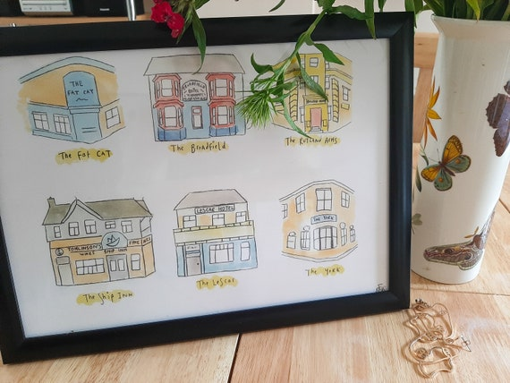 Pubs of Sheffield Print | Gift
